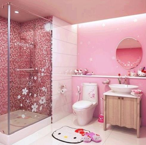 Gạch ốp tường màu hồng – cho căn phòng thêm hoàn hảo