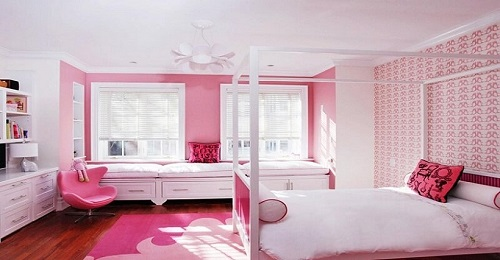 gạch ốp tường màu hồng 3