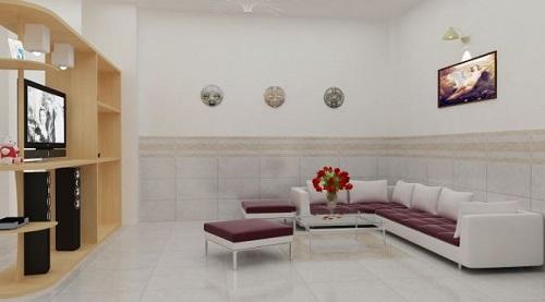 gạch ốp tường phòng khách