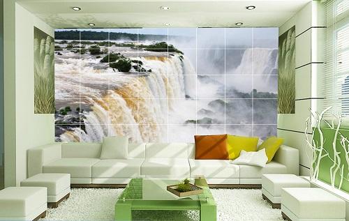 gạch ốp tường 3d phòng khách 3