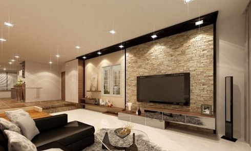 Hướng dẫn chọn mẫu gạch ốp tường phòng khách đẹp
