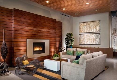 gạch ốp tường phòng khách giả gỗ 3