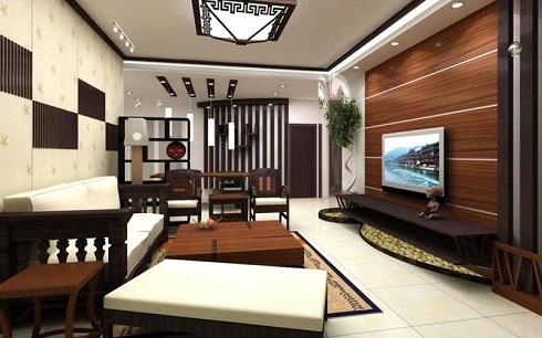 Gạch ốp tường phòng khách giả gỗ đẹp, sang trọng bậc nhất