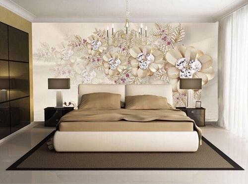 gạch ốp tường phòng ngủ 3d đẹp