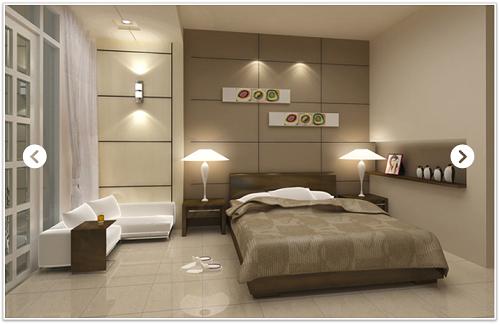 gạch ốp tường phòng ngủ sang trọng