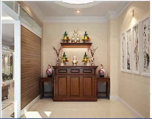 Bí quyết thiết kế gạch ốp tường phòng thờ đem vận may đến ngôi nhà bạn!