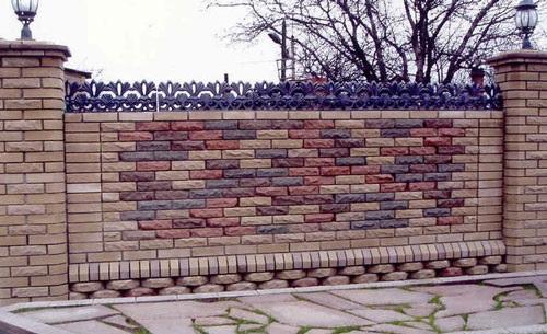 Gạch ốp tường rào 5