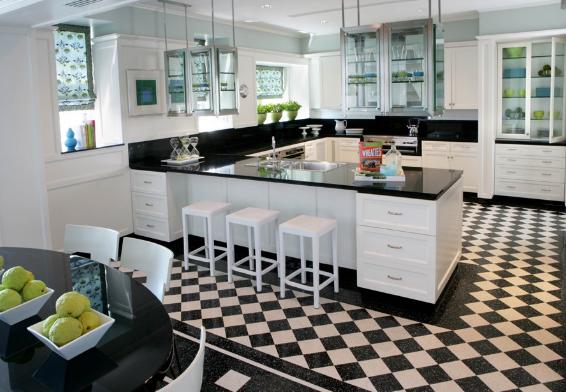 gạch lát sàn nhà bếp đẹp