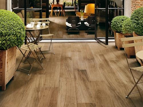 Gạch lát sàn giả gỗ thiết kế đẹp – sang trong – độc đáo