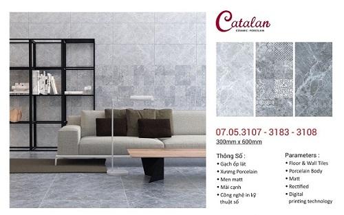 mẫu gạch ốp tường phòng khách Catalan
