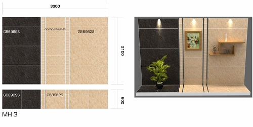Gạch ốp nhà vệ sinh Taicera ấn tượng