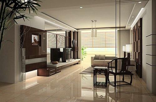 Cách phối màu gạch ốp tường phòng khách theo phong cách cổ điển