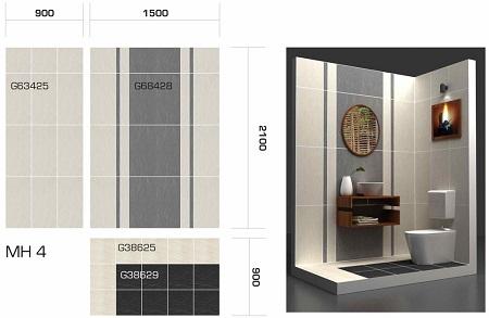 Các mẫu gạch Taicera 30x60 đặc biệt phù hợp với khu vực nhà vệ sinh